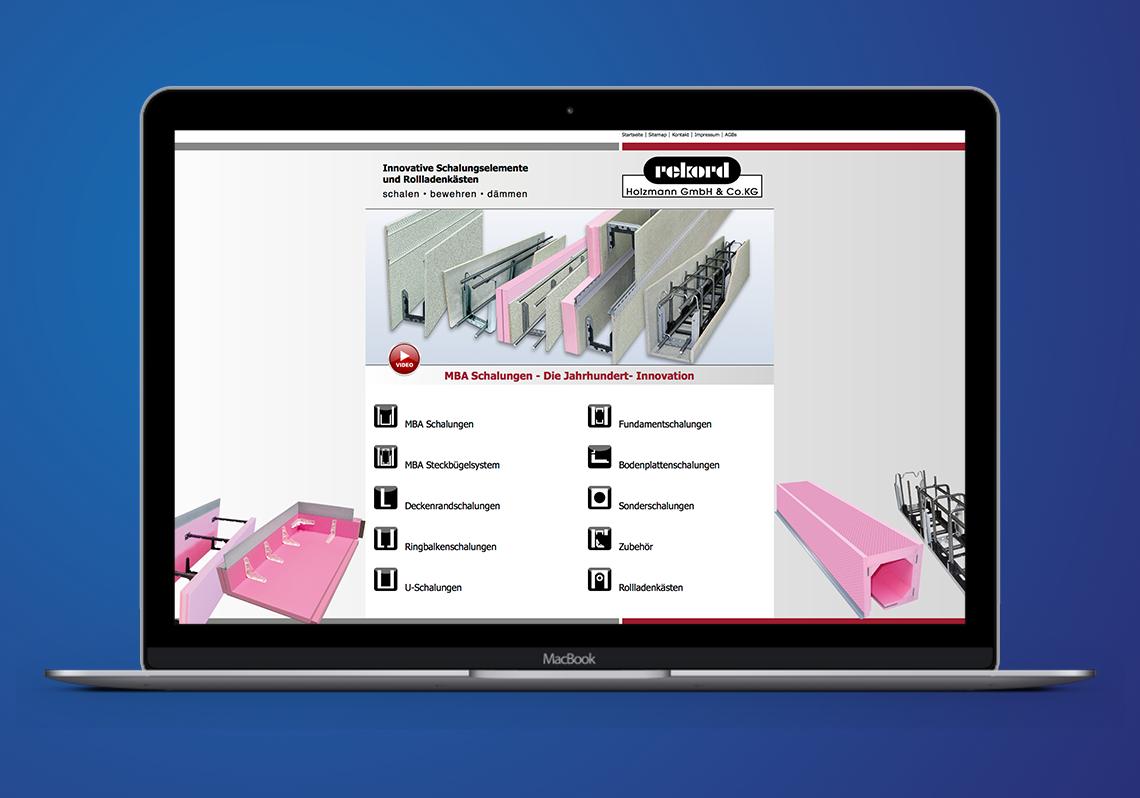 Webseite eines Branchenführers in der Bauindustrie
